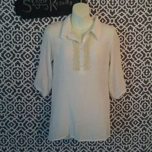 Everly white eyelet blouse size small